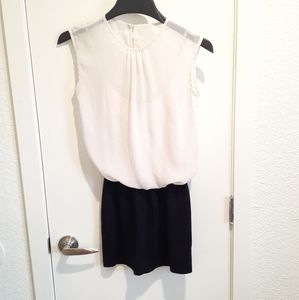 Guess Black and Off White Dress XS